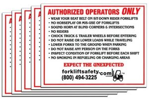 Forklift Authorized Operator Decal