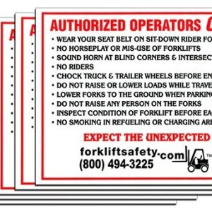 Authorized Operators Only Decals