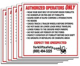 English Authorized Forklift Operator Decal