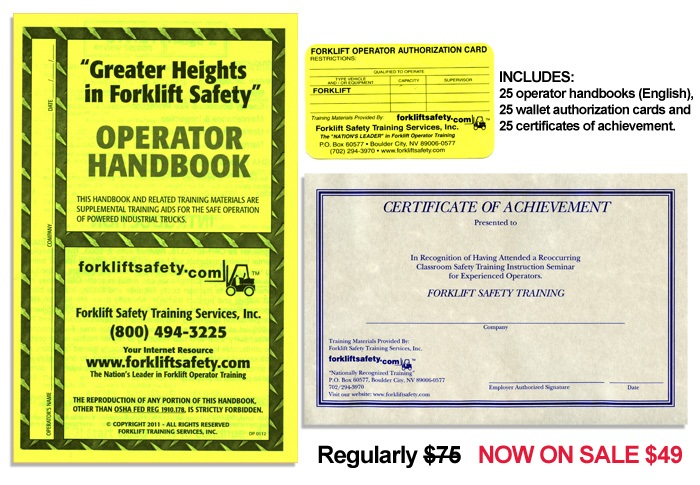 English Forklift Safety Training Manual Forklift Training Handbook