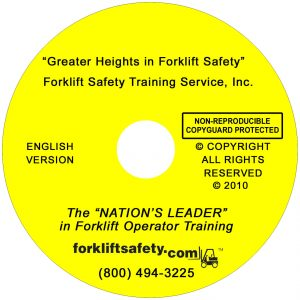 English Forklift Safety Training DVD and Video