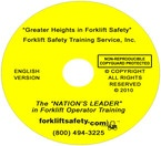 English Forklift Safety Training DVD