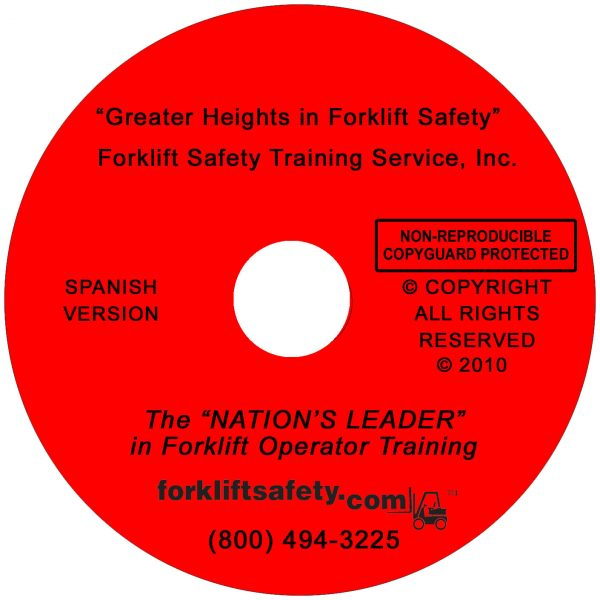 Spanish Forklift Safety Training DVD and Video
